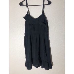 XHILARATION XL black ruffle dress